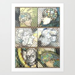 Phrenology - by Fanitsa Petrou Art Print