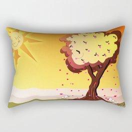 Under the tree part II Rectangular Pillow