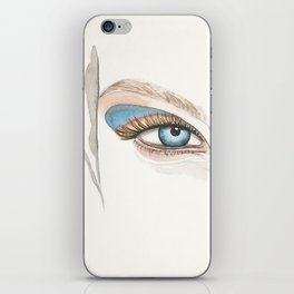Minimal Portrait Watercolor Painting by #Mahsawatercolor iPhone Skin