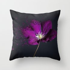 Clematis Explosion Throw Pillow