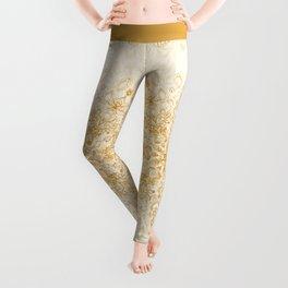 Sepia Snowflake Doodle Leggings