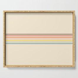 Colorful Fine Line Retro Stripes Serving Tray