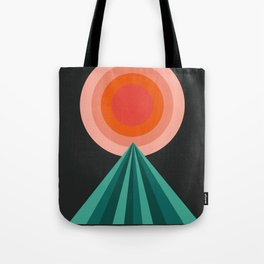 Way Decent - 70s retro throwback minimal sun california socal 1970's style Tote Bag