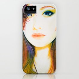Shes Not So Black and White iPhone Case
