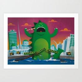 Godzilla in Dublin Art Print