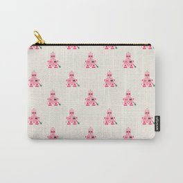 Giant pink robot with a tree club Carry-All Pouch