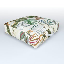 Watercolor tropical nature Outdoor Floor Cushion