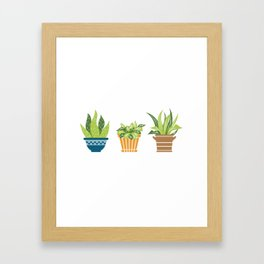 Sorry I Have Plants This Weekend Gardening Lovers Framed Art Print