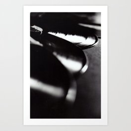 Black & White Abstract #1 Art Print