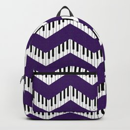 Chevron in the key of purple Backpack