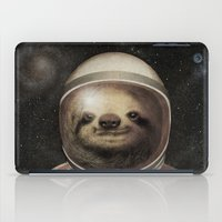 sloth iPad Cases featuring Space Sloth  by Eric Fan