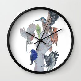 birds on hand Wall Clock