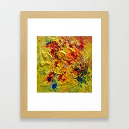 Abstract Yellow Swirls Framed Art Print