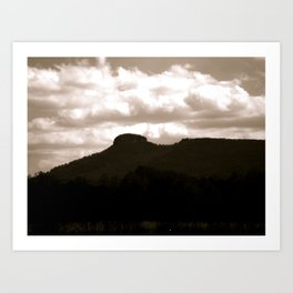 Pilot Mountain, NC Art Print