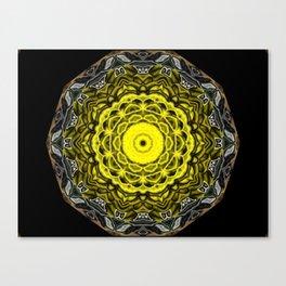 Yellow black design Canvas Print