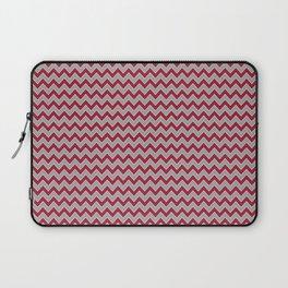 University of Alabama colors chevron zig zag minimal pattern college football sports Laptop Sleeve