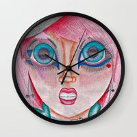 poker Wall Clocks featuring poker face by Scenccentric Creations