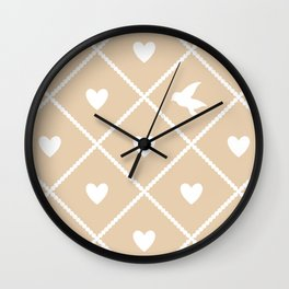 Always Near (from the Valentine Set) (colors: warm vanilla) Wall Clock