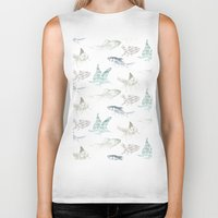 goldfish Biker Tanks featuring goldfish by Studio ReneeBoute