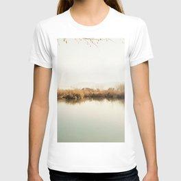 Autumn Lake Scene T-shirt
