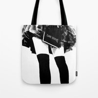death note Tote Bags featuring Death Note Girl by Yukikochild