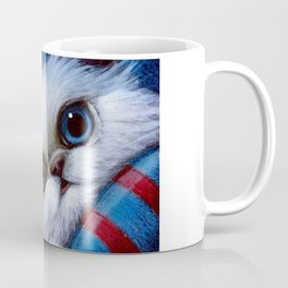 WHITE PERSIAN CAT with ODD EYES AT THE BEACH Coffee Mug