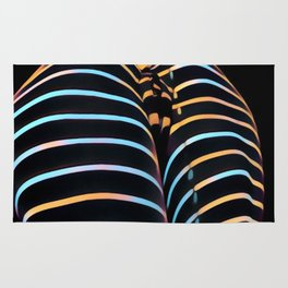 2634s-AK Striped Thighs Bottoms Up Intimate Abstract by Chris Maher Rug