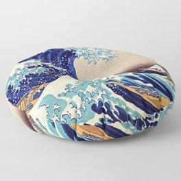 Katsushika Hokusai The Great Wave Off Kanagawa Floor Pillow