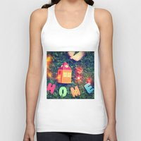 home sweet home Tank Tops featuring HOME by Julia Kovtunyak