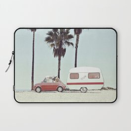 NEVER STOP EXPLORING - CAMPING PALM BEACH Laptop Sleeve