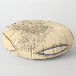 Map of Ireland (1795) Floor Pillow