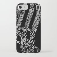 vikings iPhone & iPod Cases featuring Black Vikings by Fiorella Modolo