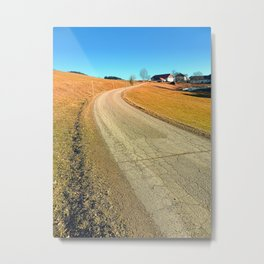 Springtime, road and countryside | landscape photography Metal Print