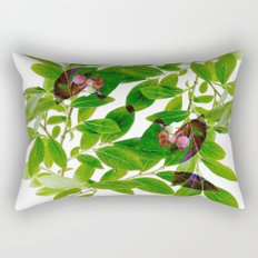 Blueberry Branch in Spring Rectangular Pillow