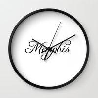 memphis Wall Clocks featuring Memphis by Blocks & Boroughs