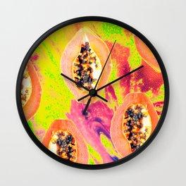 Papaya #society6 #decor #buyart Wall Clock