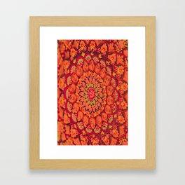 Mandala on copper plate 2 Framed Art Print