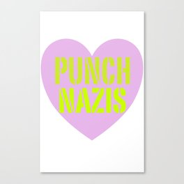 PUNCH NAZIS Canvas Print