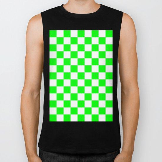Checker (Green/White) Biker Tank