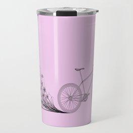 Cycling with flowers Travel Mug