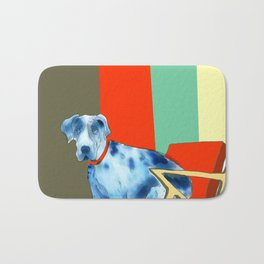 Great Dane in Chair #1 Bath Mat