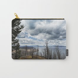 Burnt Beauty Over Yellowstone Lake - Yellowstone Carry-All Pouch
