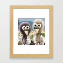 series: Old World Vultures - Gyps rueppellii and Gyps fulvus Framed Art Print