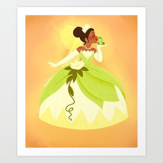 Princess and the Frog Art Print