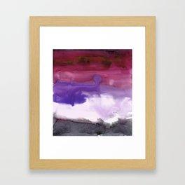Melting Sunset #3, Joyful Violet Framed Art Print