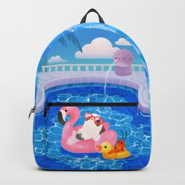 Cory cats in the swimming pool 2 Backpack