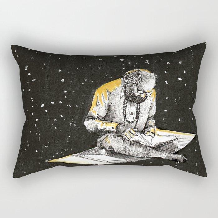 Allen Ginsberg in the sky Rectangular Pillow