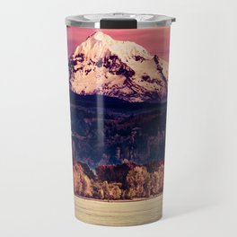 Mt Hood on Columbia River Travel Mug