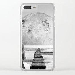 Strange Trip Clear iPhone Case
