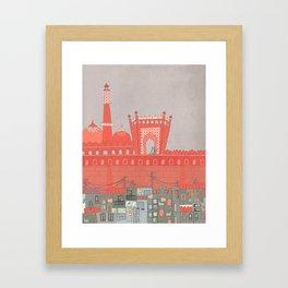 Purani Dilli, Old Delhi - A Postcard from India Framed Art Print